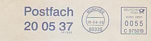 Freistempel C975019 München - Postfach 20 05 37 (#764)