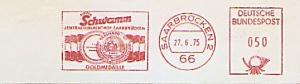 Freistempel Saarbrücken - Fleisch Schwamm - Zentralschlachthof Saarbrücken - Goldmedaille (Abb. Goldmedaille) (#791)
