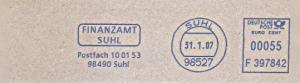 Freistempel F397842 Suhl - Finanzamt Suhl (#795)