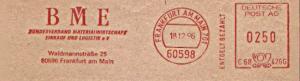 Freistempel C68 426G Frankfurt am Main - BME Bundesverband Materialwirtschaft Einkauf und Logistik e.V.  (#798)
