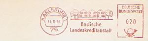 Freistempel Karlsruhe - Badische Landeskreditanstalt (#801)