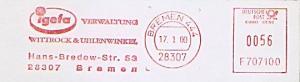 Freistempel F707100 Bremen - igefa Verwaltung Wittrock & Uhlenwinkel (#805)