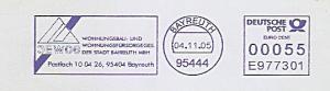 Freistempel E977301 Bayreuth - GEWOG Wohnungsbau- und Wohnungsfürsorgeges. der Stadt Bayreuth mbH (#806)
