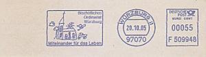 Freistempel F509948 Würzburg - Bischöfliches Ordinariat Würzburg - Miteinander für das Leben (Abb. Kinderzeichnung Kirche) (#810)