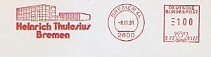 Freistempel E22 0522 Bremen - Heinrich Thulesius Bremen (Abb. Firmengebäude) (#829)