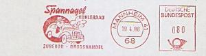 Freistempel Mannheim - Spannagel Kühlerbau - Zubehör - Grosshandel (Abb. Auto mit dampfendem Kühler) (#835)