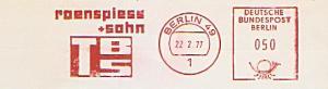 Freistempel Berlin - TBS roenspiess + sohn (#870)