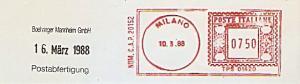 Freistempel Italien TPS 01420 Milano (Kein Werbeklischee !)  (#876)