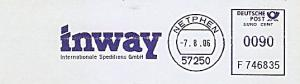 Freistempel F746835 Netphen - inway Internationale Speditions GmbH (#887)