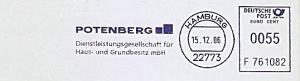 Freistempel F761082 Hamburg - POTENBERG Dienstleistungsgesellschaft für Haus- und Grundbesitz mbH (#889)