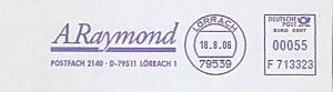 Freistempel F713323 Lörrach - A.Raymond (#893)
