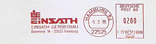 Freistempel F77 6098 Hamburg - EINSATH GERÜSTBAU (#911) 0