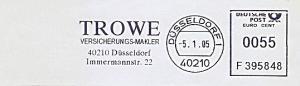 Freistempel F395848 Düsseldorf - TROWE Versicherungs-Makler (#922)