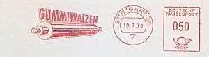 Freistempel Stuttgart - GUMMIWALZEN (Abb. Gummiwalze) (#983)