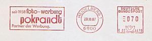 Freistempel E22 4470 Heidelberg - seit 1958 foto-werbung pokrandt Partner der Werbung (#985)