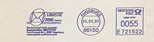 Freistempel E721522 Augsburg - LOGISTIC MAIL factory (Abb. Briefumschlag) (#987)