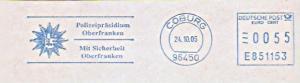 Freistempel E851153 Coburg - Polizeipräsidium Oberfranken - Mit Sicherheit Oberfranken (Abb. Polizeistern) (#989)
