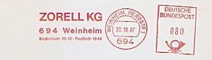 Freistempel Weinheim, Bergstr - ZORELL KG (#991)