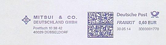 Freistempel 3D03001770 Düsseldorf - MITSUI & CO. DEUTSCHLAND GMBH (#1003) 0