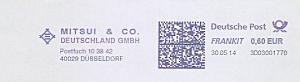 Freistempel 3D03001770 Düsseldorf - MITSUI & CO. DEUTSCHLAND GMBH (#1003)