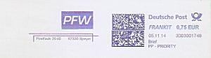 Freistempel 3D03001749 Speyer - PFW (#1004)