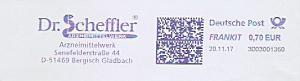 Freistempel 3D03001360 Bergisch Gladbach - Dr. Scheffler Arzneimittelwerk (#1020)