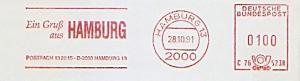 Freistempel C76 5238 Hamburg - Ein Gruß aus HAMBURG Postfach 13 22 25 D-2000 Hamburg 13 (#1035)