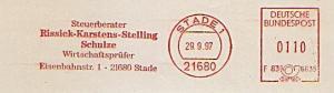 Freistempel F83 6635 Stade - Riessiek - Karstens - Stelling - Schulze / Steuerberater - Wirtschaftsprüfer (#1161)