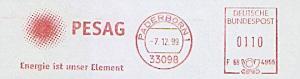 Freistempel F68 4955 Paderborn - PESAG - Energie ist unser Element (#1164)