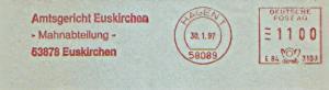 Freistempel E84 3108 Hagen - Amtsgericht Euskirchen - Mahnabteilung - (#1167)