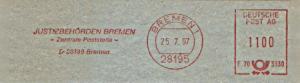 Freistempel F70 3330 Bremen - Justizbehörden Bremen - Zentrale Poststelle - (#1169)