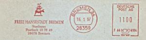 Freistempel F66 4104 Bremen - Freie Hansestadt Bremen - Stadtamt (Abb. Bremer Stadtmusikanten) (#1170)