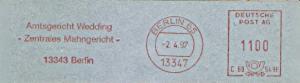 Freistempel C69 549H Berlin - Amtsgericht Wedding - Zentrales Mahngericht - (#1171)