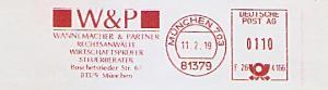Freistempel F26 4166 München - W&P / Wannemacher & Partner - Rechtsanwälte - Wirtschaftsprüfer - Steuerberater (#1178)