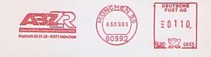 Freistempel E60 0855 München - ABZ ZR Zahnärztliches Rechenzentrum für Bayern GmbH (#1179)