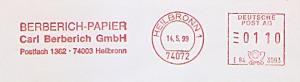 Freistempel E84 3093 Heilbronn - BERBERICH PAPIER - Carl Berberich GmbH (#1180)