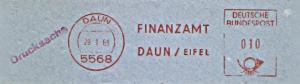 Freistempel Daun - Finanzamt Daun / Eifel (#1181)