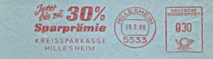 Freistempel Hillesheim - Kreissparkasse Hillesheim - Jetzt bis zu 30% Sparprämie (#1183)