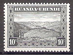Briefmarke Ruanda-Urundi Mi.Nr. 44 ** Landesmotive 1931 - Motiv: Berglandschaft (#10007)
