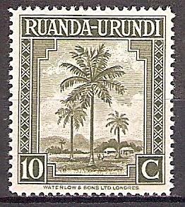 Briefmarke Ruanda-Urundi Mi.Nr. 80 A ** Landesmotive 1942 - Motiv: Ölpalmen (#10012)