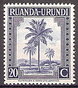 Briefmarke Ruanda-Urundi Mi.Nr. 82 A ** Landesmotive 1942 - Motiv: Ölpalmen (#10013)