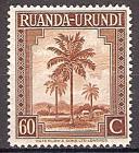Briefmarke Ruanda-Urundi Mi.Nr. 86 A ** Landesmotive 1942 - Motiv: Ölpalmen (#10014)