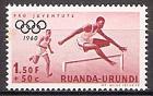 Briefmarke Ruanda-Urundi Mi.Nr. 176 A ** Olympische Sommerspiele, Rom 1960 - Motiv: Hindernislauf (#10018)