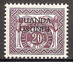 Briefmarke Ruanda-Urundi Portomarke Mi.Nr. 14 ** Portomarke 1959 (#10020)