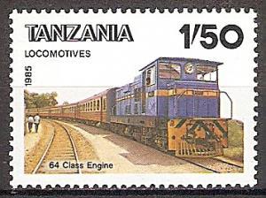 Briefmarke Tansania Mi.Nr. 281 ** Lokomotiven 1985 Motiv: Diesellokomotive Class 64 (#10025)