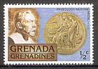 Briefmarke Grenada-Grenadinen Mi.Nr. 260 ** 75 Jahre Nobelpreisverleihung 1978 Motiv: Büste von Alfred Nobel (1833-1896), Gründer der Nobelstiftung / Nobelpreismedaille für Physiologie und Medizin (#10035)