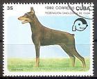 Briefmarke Cuba Mi.Nr. 3562 o Symposium der Kynologen-Föderation 1992 Motiv: Hunde - Dobermann (#10038)