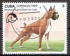 Briefmarke Cuba Mi.Nr. 3558 o Symposium der Kynologen-Föderation 1992 Motiv: Hunde - Boxer (#10039)