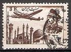 Briefmarke Iran Mi.Nr. 870 o Flugpostmarken 1953 Motiv: Flugzeug über Sehenswürdigkeiten, Mohammad Reza Schah Pahlavi (#10040)