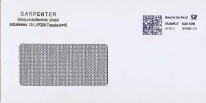 Freistempel 3D05001023 Freudenberg - CARPENTER Schaumstofftechnik GmbH (#AFS13)